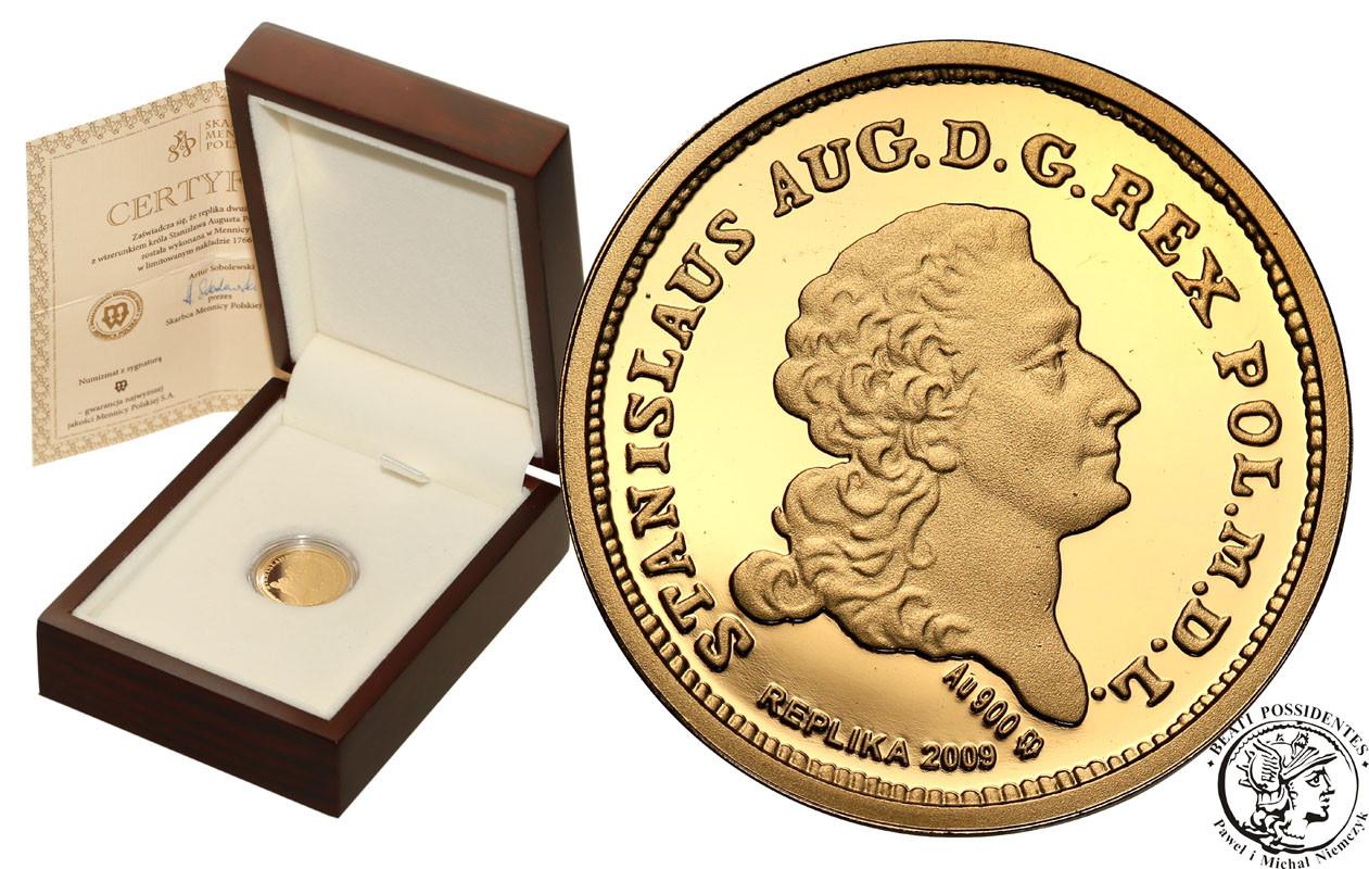 Replika 2-złotówki St. A. Poniatowskiego ZŁOTO st.L