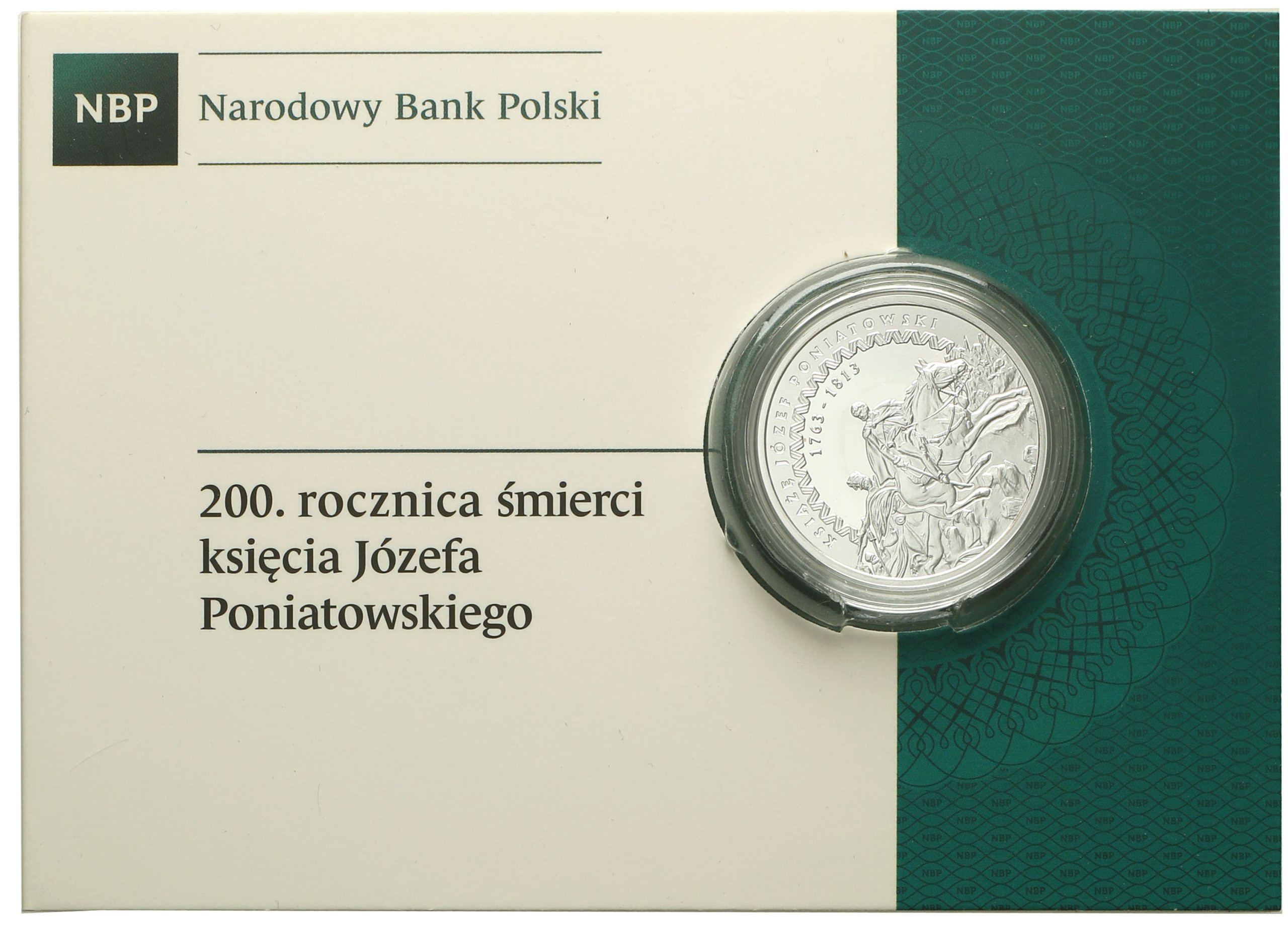 10 złotych 2013 śmierć Poniatowskiego st.L