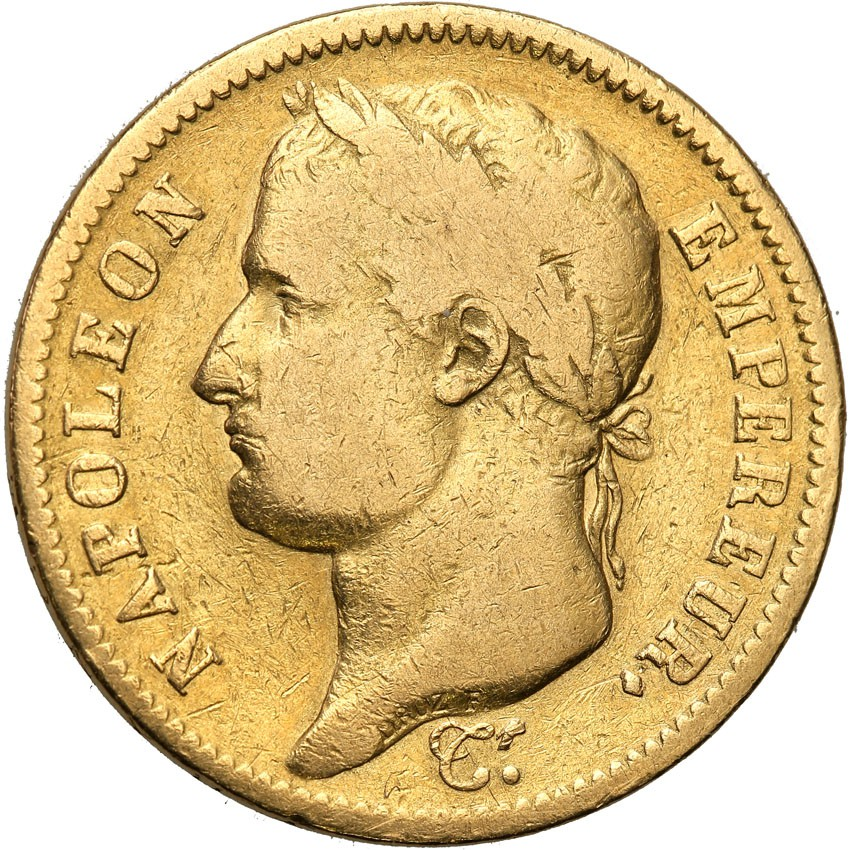 Francja 40 franków 1812 A Napoleon I st.3-