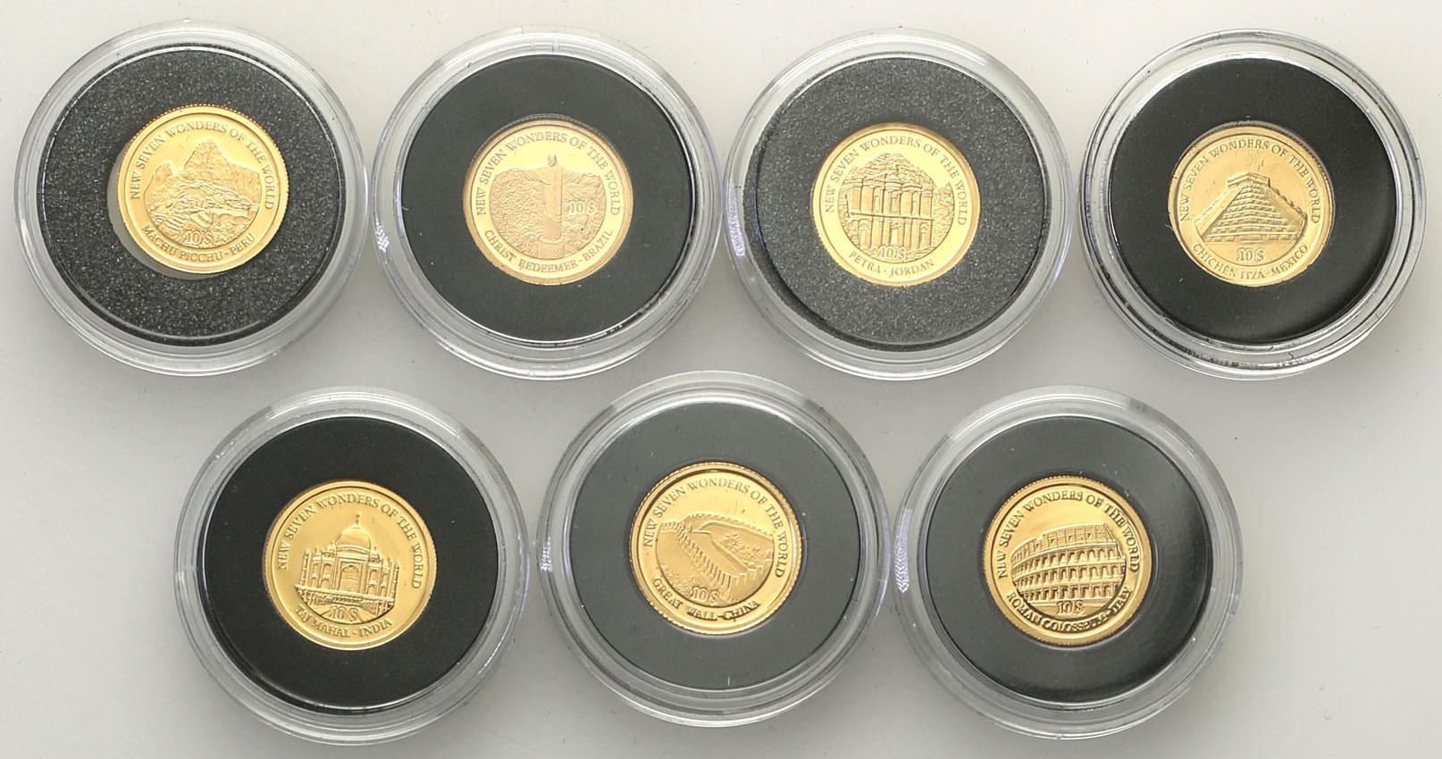 Świat najmniejsze monety złote 7 sztuk