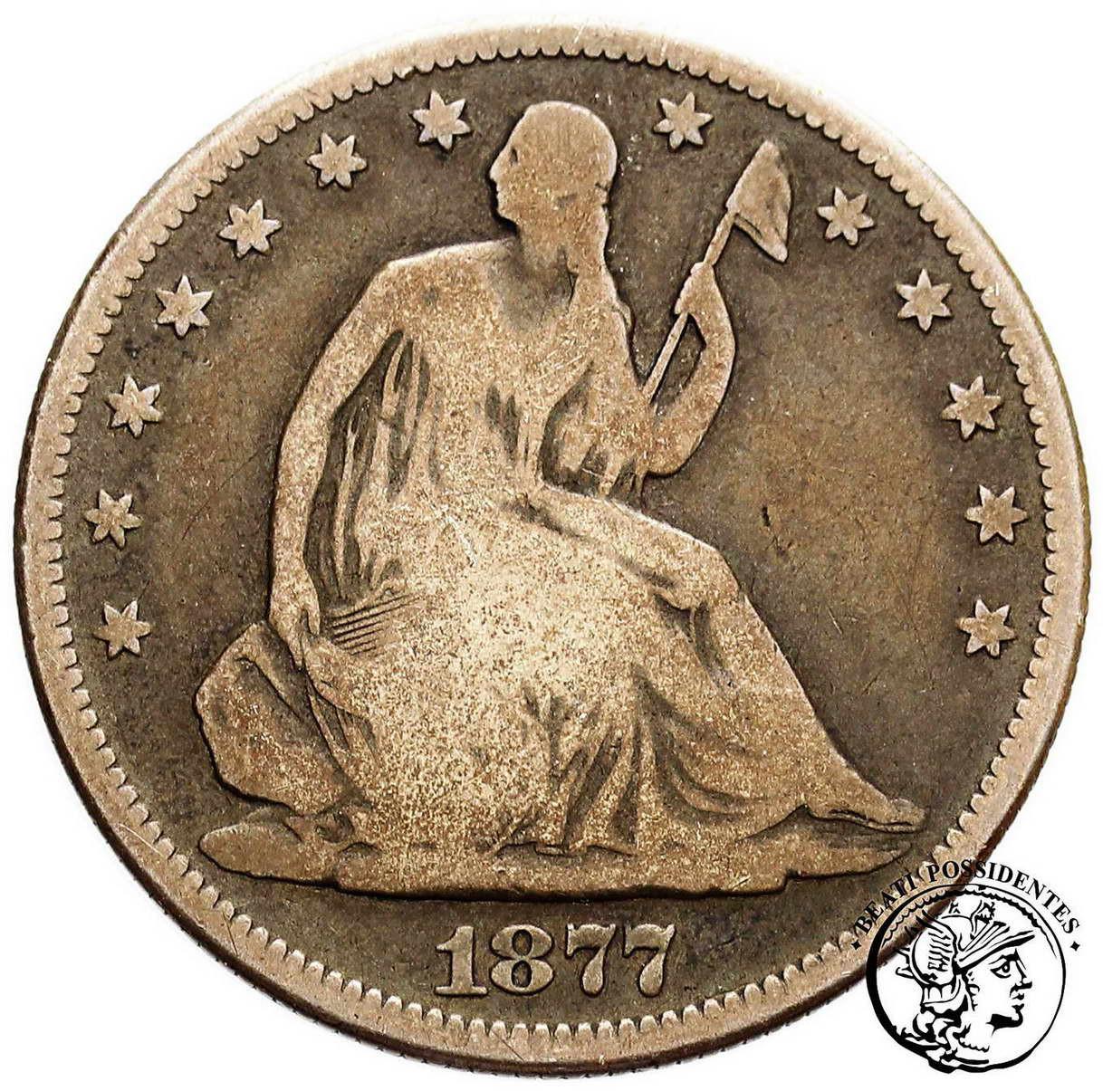USA, 1/2 $ dolara 1877 st.3-